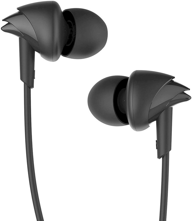 boAt Bassheads 100 in Ear Wired Earphones with Mic(Black)